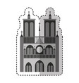 notre dame catedral monument vector image vector image