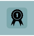 Pale blue 1st place icon vector image vector image