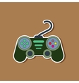 paper sticker on background of game joystick vector image vector image