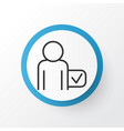 passenger icon symbol premium quality isolated vector image