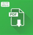 pdf format download icon business concept pdf vector image vector image