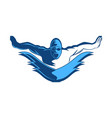 people swimming designs inspiration isolated on vector image