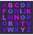 pixel alphabet with colored letters vector image vector image