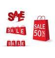 Sale Text Bag vector image vector image