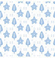 scandinavian christmas doodles seamless pattern vector image vector image