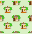 seamless pattern of house in vector image vector image