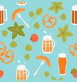 seamless texture oktoberfest symbols vector image