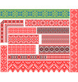 set of 15 ethnic patterns for embroidery stitch vector image vector image