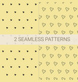 set of 2 seamless patterns in black and yellow vector image