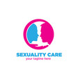 sexuality care logo designs vector image