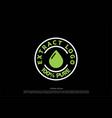 simple minimalist 100 organic natural badge label vector image vector image