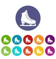 Skates set icons vector image vector image