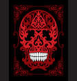 skull in art nouveau style vector image