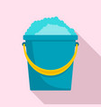 soap foam bucket icon flat style vector image vector image