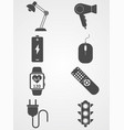 technology icon set icon sign symbol vector image