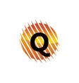 technology letter q vector image