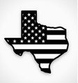 texas tx state america flag map black and white vector image