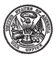 the seal of the war office of the united states vector image vector image