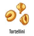 tortellini icon cartoon style vector image vector image