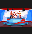 tv live news show host interview news broadcast vector image vector image