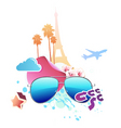 Vector illustration of funky abstract summer backg