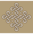 viking decorative knot - engraved - ring cross vector image vector image