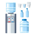 water cooler refreshment and bottle office vector image vector image