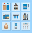 water purification icon faucet fresh recycle pump vector image vector image