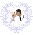 Wedding couple 07 vector image vector image