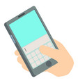 write phone icon isometric 3d style vector image vector image