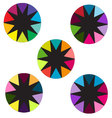 circles with colorful borders vector image
