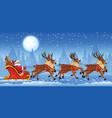 Christmas Santa Claus riding vector image