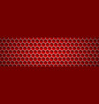 abstract red geometric polygons header vector image vector image