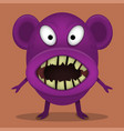 angry horror monster vector image vector image
