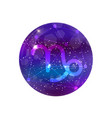 astrological symbol of capricorn abstract shiny vector image