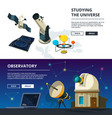 astronomy banners set science theme vector image