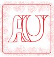 AU monogram vector image vector image