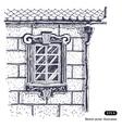 Beautiful window brick wall vector image vector image