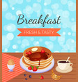 breakfast fresh and tasty banner template morning vector image vector image