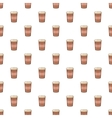Brown paper cup of coffee pattern cartoon style vector image vector image