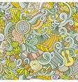 Cartoon hand-drawn picnic doodles seamless pattern vector image vector image