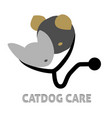 cat and dog medical care icon vector image