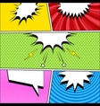 comic page book bright template vector image