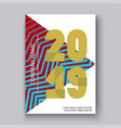cover annual report numbers 2019 modern design vector image vector image