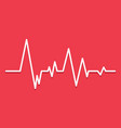 creative of heart line vector image