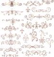Decorative vintage elements vector image vector image