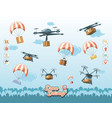 drone service set icons icon ilustration vector image vector image