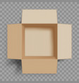 empty open cardboard box vector image vector image
