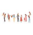 family walking together celebrations holidays vector image