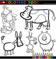 Farm Animals for Coloring Book or Page vector image vector image